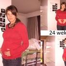 Ik en m'n lieve schat op 24 weken!
