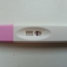 Vaag streepje Wat denken jullie ? Wel of niet zwanger?