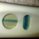Licht streepje Is deze test van kruidvat positief het is een licht blauw streepje verticaal over t horizontale streepje Binnen de tijd...