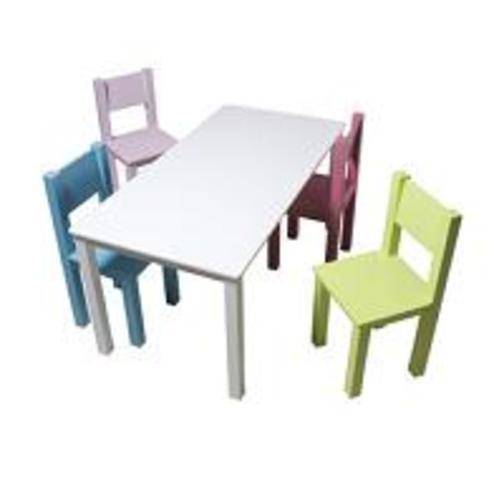 kindertafel bopita kindertafel wit 52x110x55 baby en. Black Bedroom Furniture Sets. Home Design Ideas